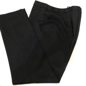 Elie Tahari Straight Leg Black Career Pants